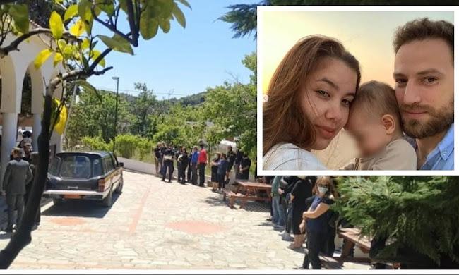 Σπαραγμός στην κηδεία της Καρολίνας - Τραγικές φιγούρες η μάνα και ο σύζυγος