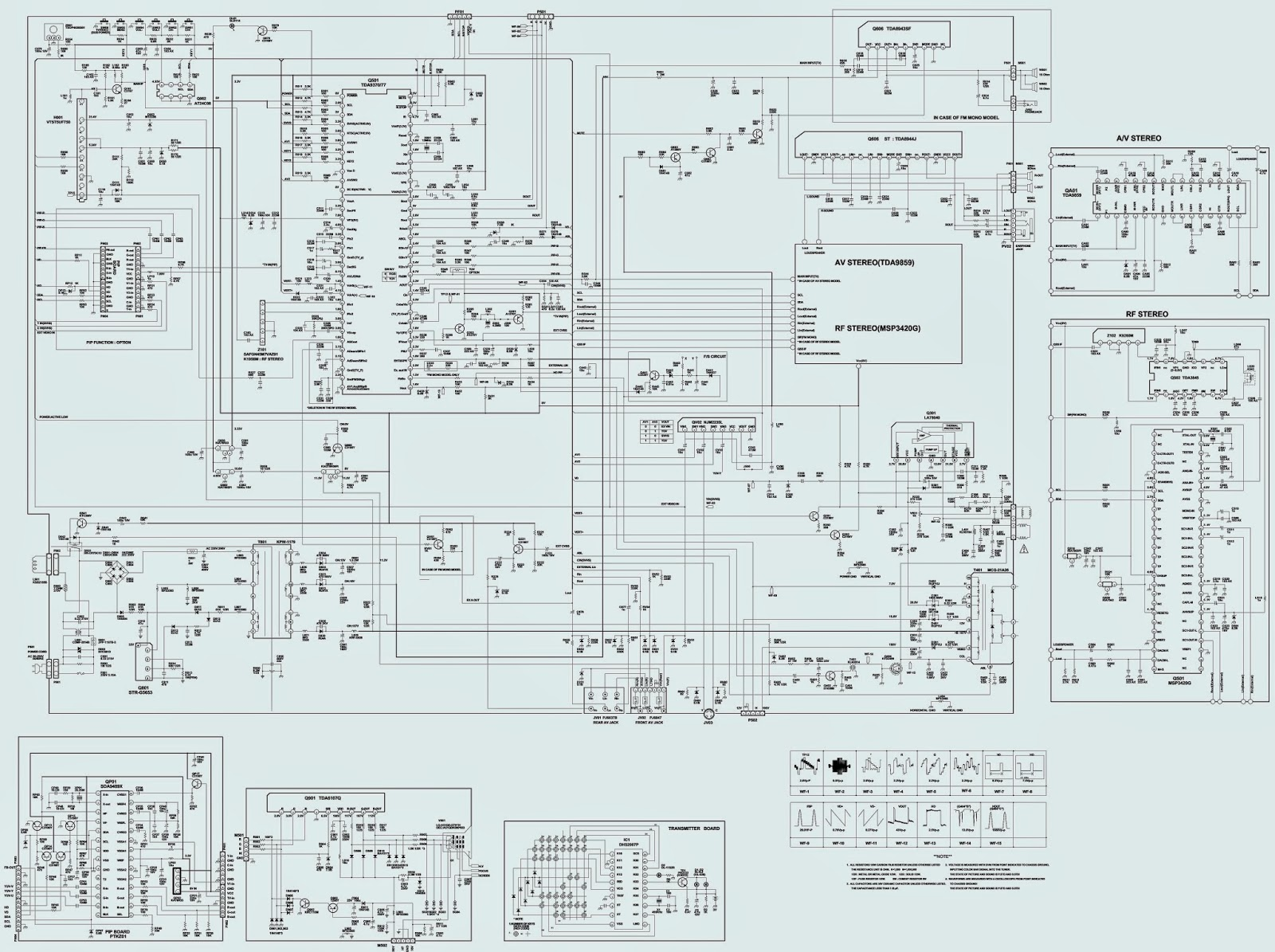 telefunken tv schematic diagrams