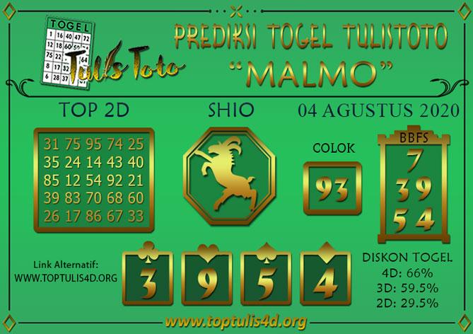 Prediksi Togel MALMO TULISTOTO 04 AGUSTUS 2020