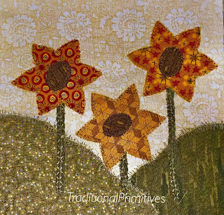 south dakota sunflower quilt block