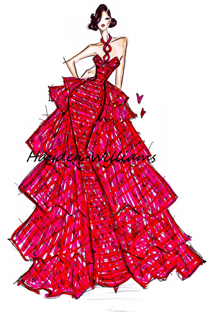 Hayden Williams Fashion Illustrations: February 2012