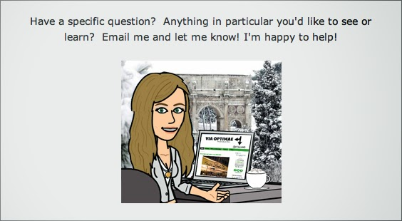 Email me for specific questions or to request specific content— I'm happy to help! —Alex from Via Optimae, www.viaoptimae.com