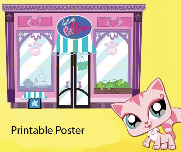 Quirky Artist Loft Printable Littlest Pet Shop Store Front