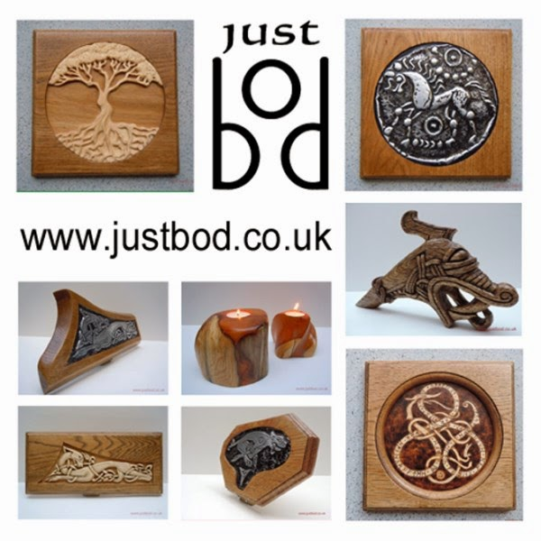 Justbod Celtic Viking Carvings, Sculptures, Artwork