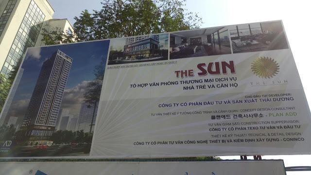 Bảng thông tin dự án The Sun