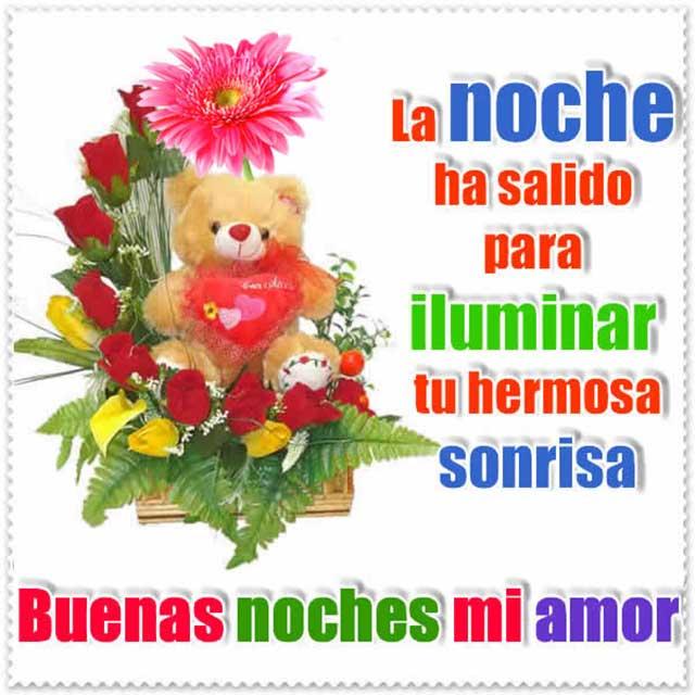Tarjetas Con Flores Y Frases Buenas Noches
