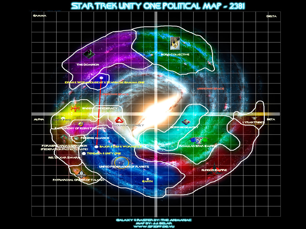 Star Trek Galaxy Map I've been watching Star Trek for 21 years and I can't believe I