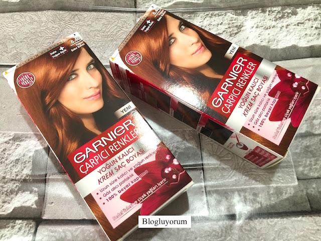 garnier 6.46 yoğun bakır kahve saç boyası ile saç boyama