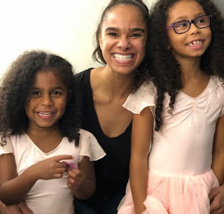 Picture of Misty Copeland with kids