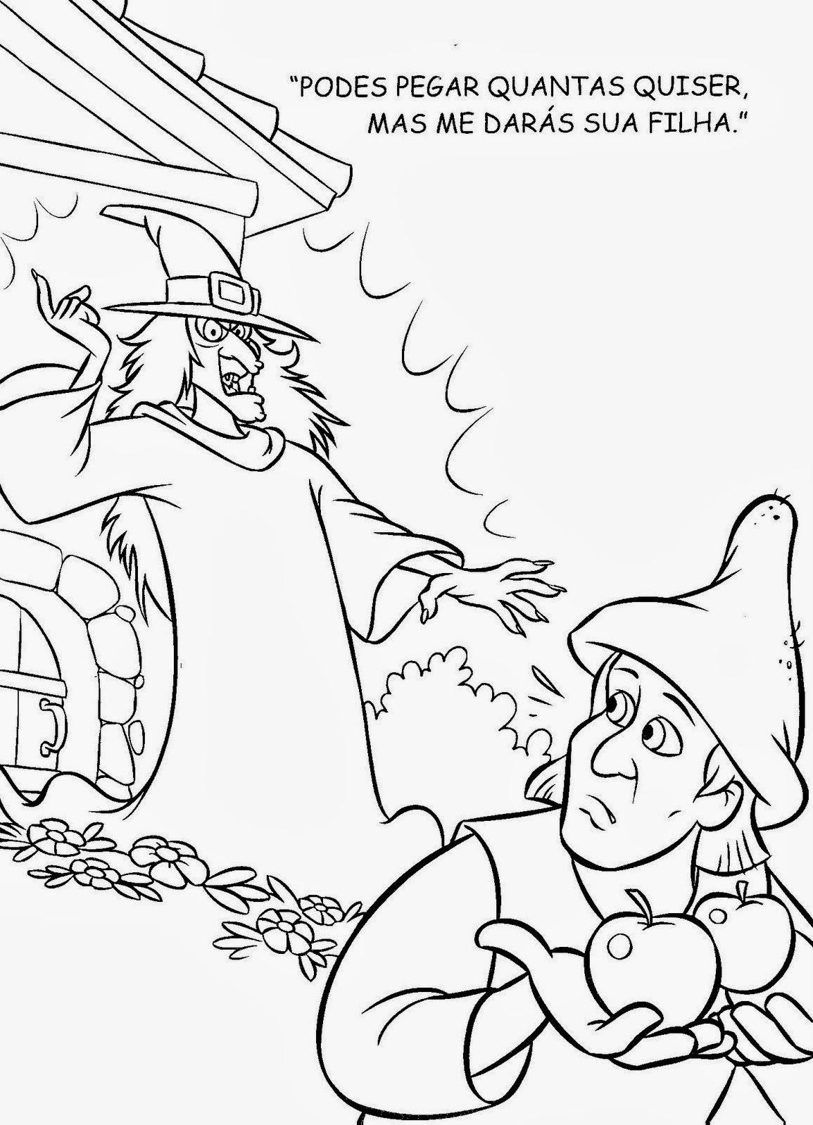 Livro De Historia Rapunzel Para Colorir Pintar Imprimir