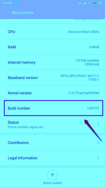 cpu usages enable android