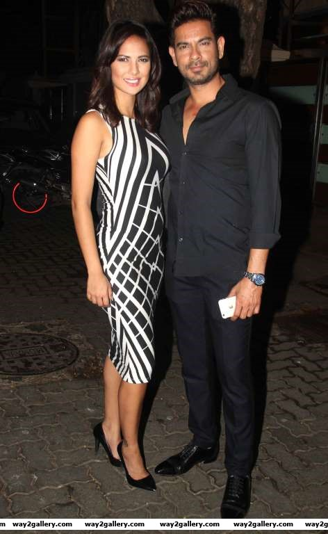 Our shutterbug caught Rochelle Rao and Keith Sequeira at Ekta Kapoors party