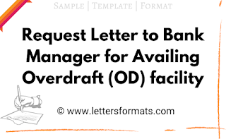 letter to bank for od facility