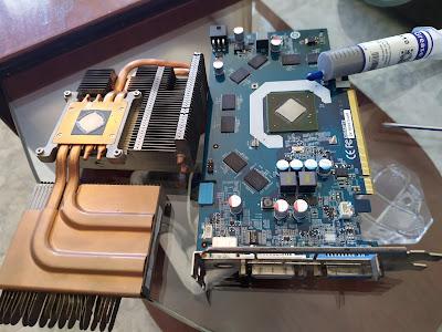 Mantenimiento y mayor refrigeracion a una gráfica Nvidia GeForce 9600GT 1 Gb DDR3