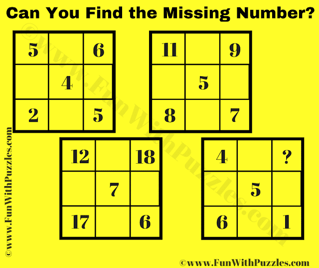 Can you Find the Missing Number in this Logic Puzzle?