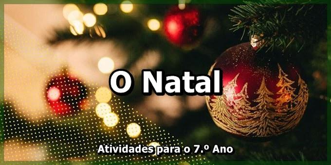 O Natal - Atividades de Língua Portuguesa para o 7.º Ano