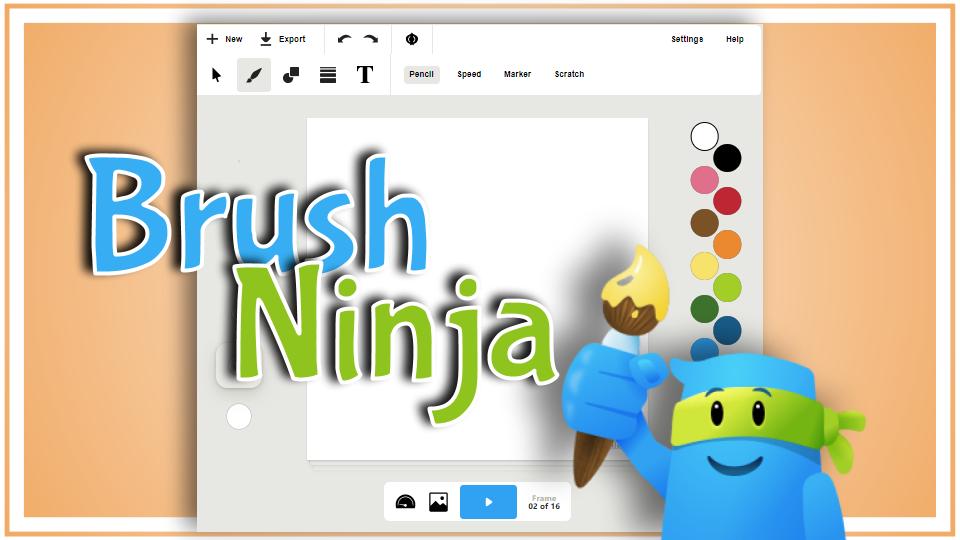 Create animated GIFs with Brush Ninja