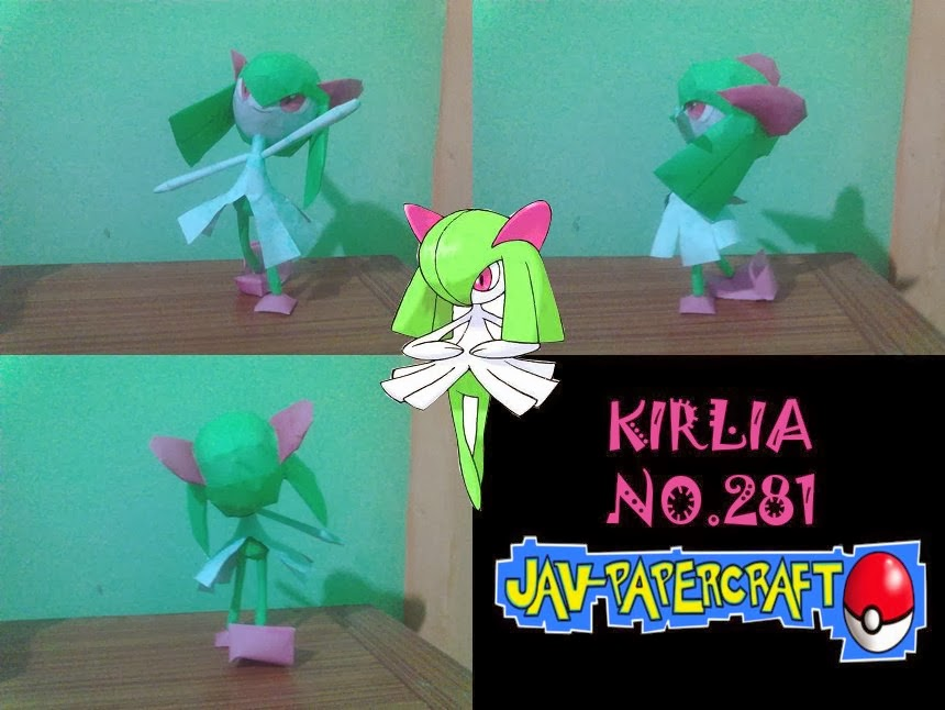 Pokemon Kirlia Paper Model