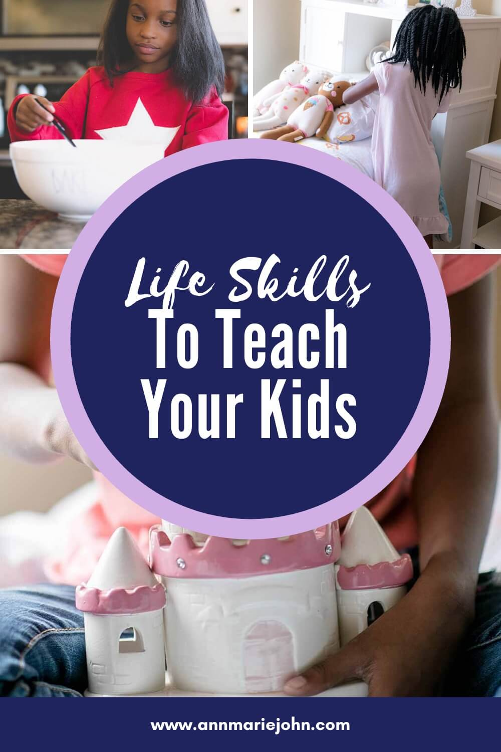 Life Skills to Teach Your Kids Pinterest Image