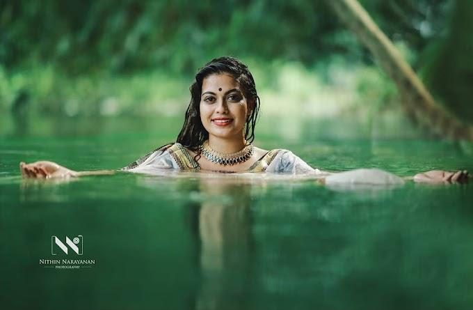 South Indian Actress Anusree Wet Photoshoot