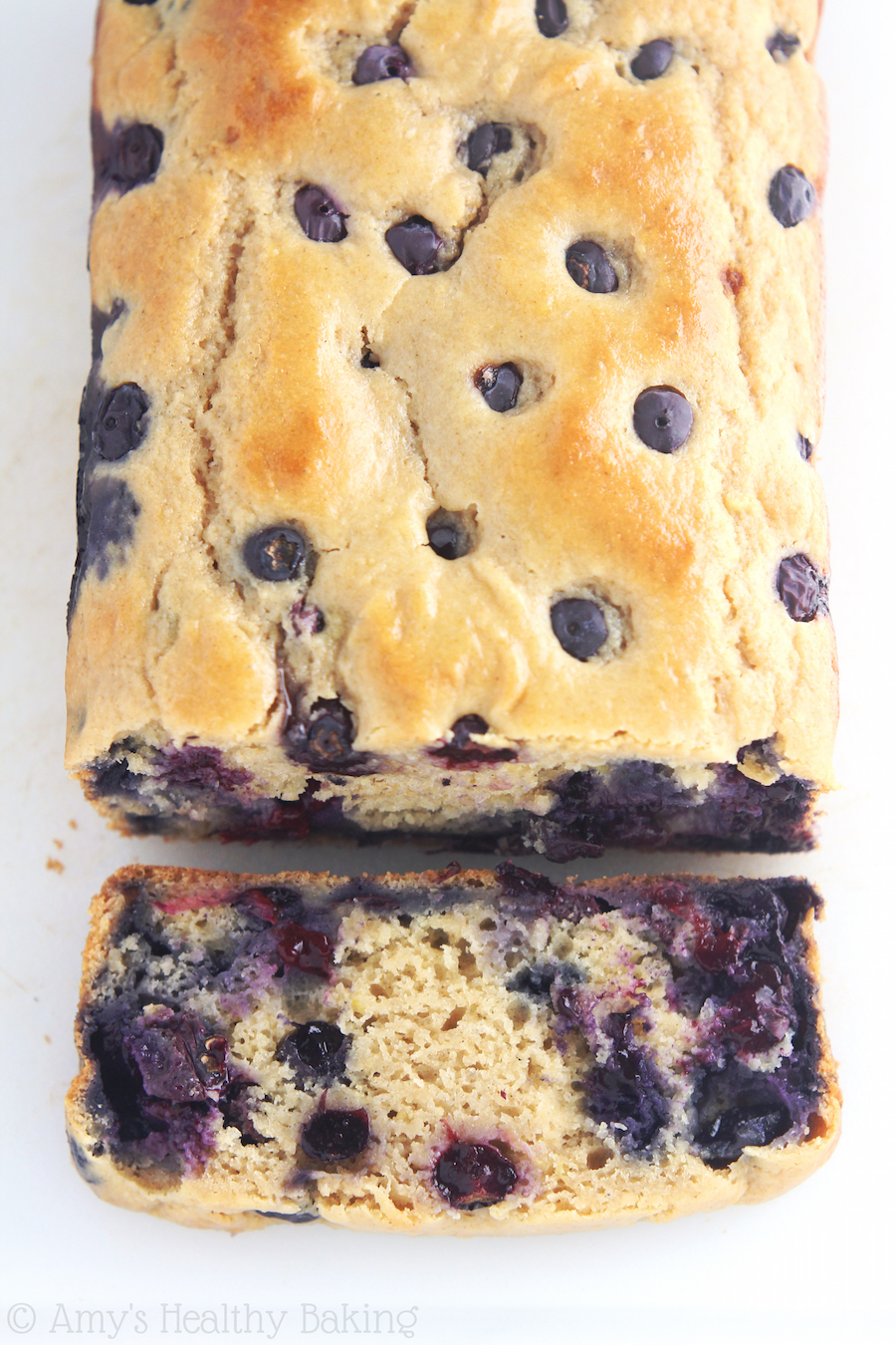Lemon Blueberry Breakfast Loaf border=