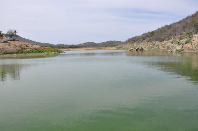 O Açude do Pinga em Cerro Corá, aumentou 1,30 metros de água