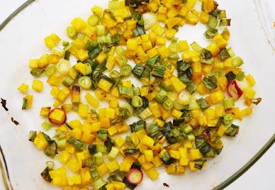 Salade betterave rôtie - riz noir - pomme - comté