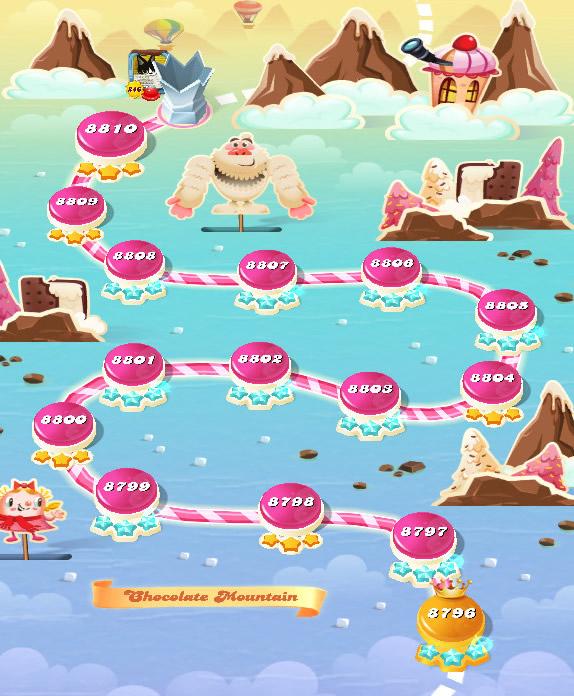Candy Crush Saga level 8796-8810