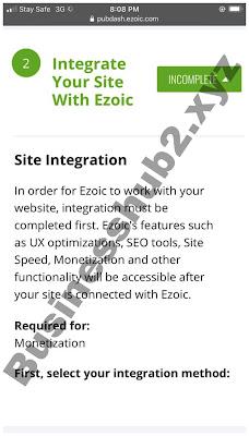 Ezoic site integration