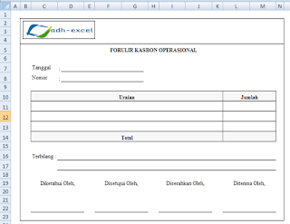 cash advance form in excel