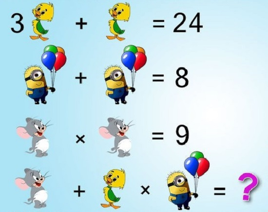 Solve Cartoon Math Quiz