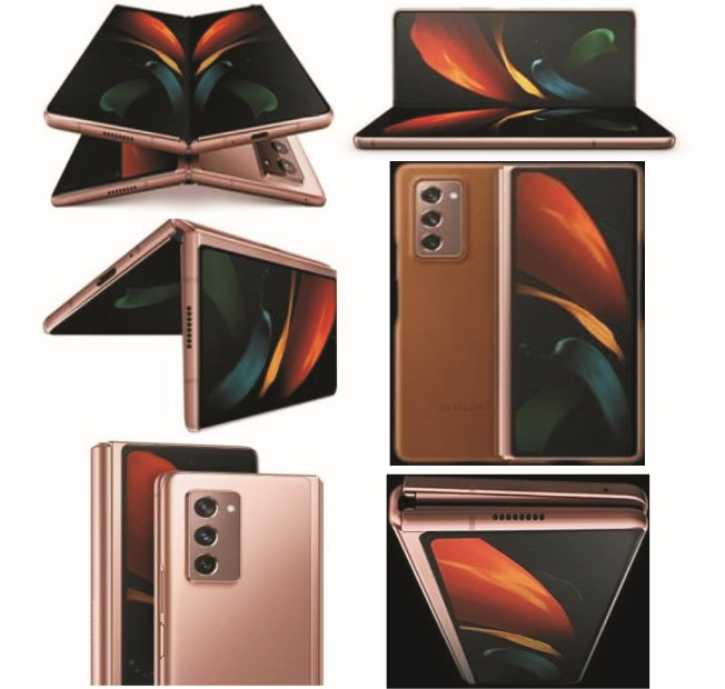Samsung Galaxy Z Fold 2 Phablet - Specs: 5G Network, 256GB/12GB Memory, 7.6Inch Foldable Screen, 8Core Snapdragon  865+, Hands-Free Cams, 4500mAh Dual Battery