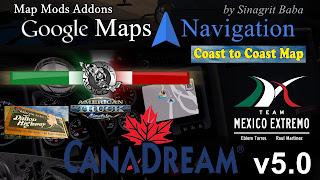 cover ats google maps navigation normal & night version map mods addons v5.0