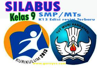 Silabus Bahasa Indonesia K13 Kelas 9 Semester 1 dan 2 Edisi Revisi 2020