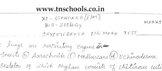 plus one bio zoology study material 30 One Marks test questions English medium