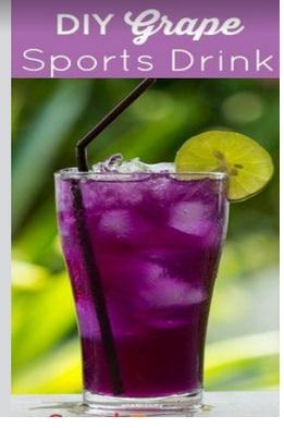 DIY Grape sports drink