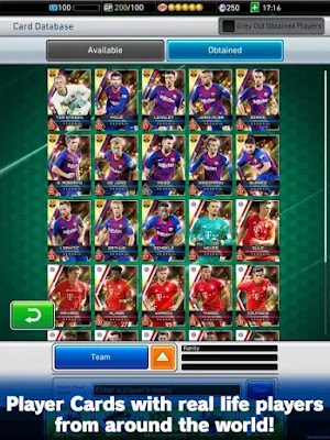 PES CARD COLLECTION Free Android Game on Apcoid.com