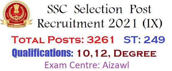 SSC Recruitment Aizawl
