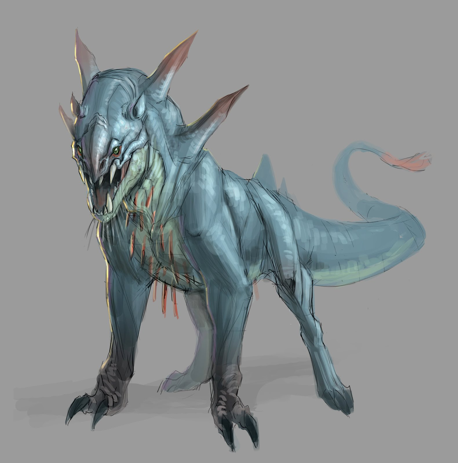 creature animal concept alien creatures anatomy kuo jonathan monster drawings dark drawing academy fantasy demos beast conceptdesignacad qqqq pm posted