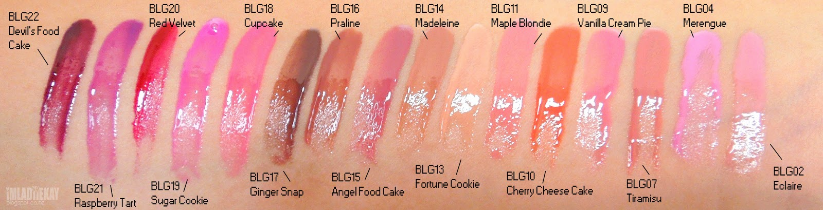 Kay Cake Beauty Nyx Butter Gloss 16 Shades Swatches