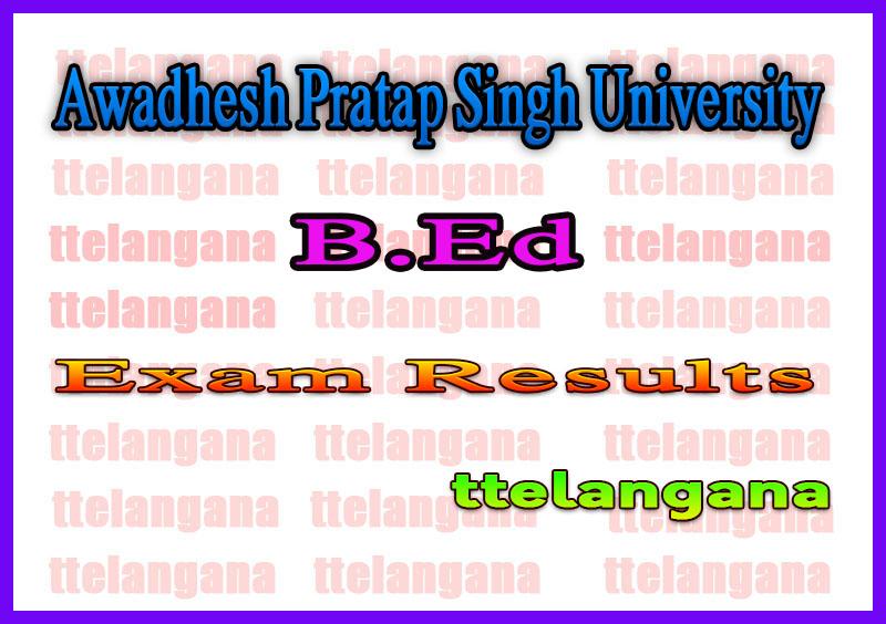 Awadhesh Pratap Singh University Rewa B.Ed 1st 2nd Year Mains ATKT Result