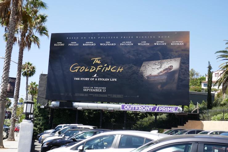 Goldfinch film billboard