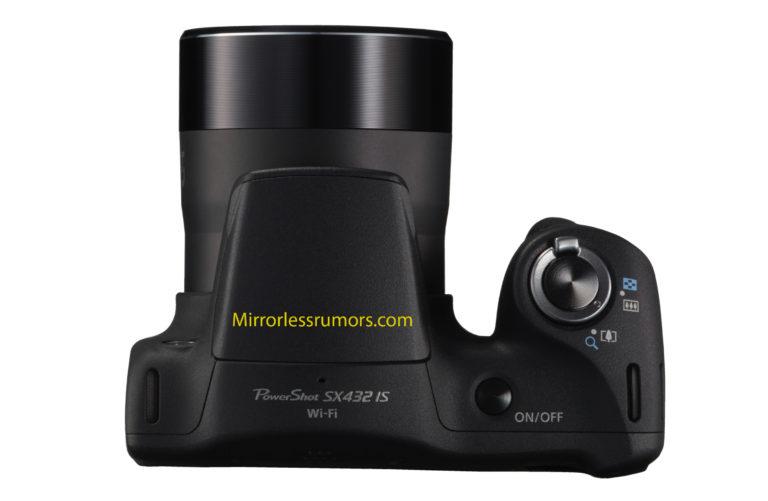 Canon PowerShot SX432, вид сверху