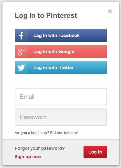 Pinterest Login Without Facebook
