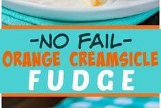 No Fail Orange Creamsicle Fudge