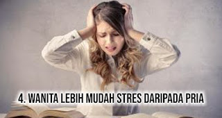 Wanita lebih mudah stres daripada pria