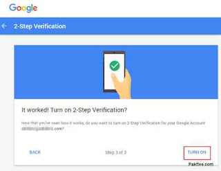 Two-factor authentication TURN ON