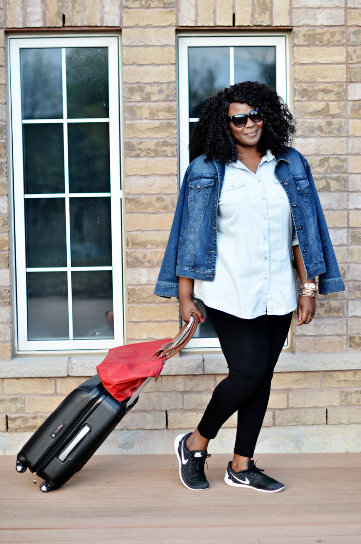 What to wear to the airport from cold to warm ( plus size)