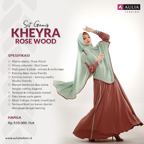 Gamis Aulia Kheyra Rose Wood