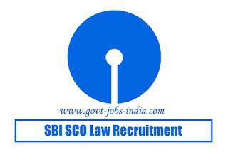SBI SCO Law Recruitment 2020